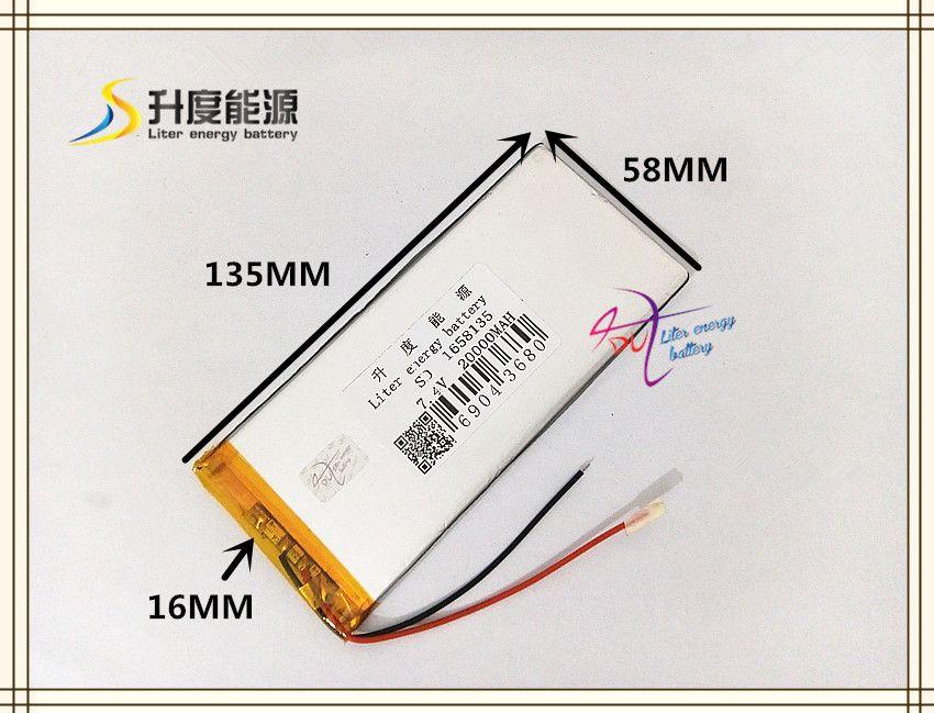 7,4 V 20000 mAH 1658135 (polymer lithium-ionen-akku) Li-Ion akku für tablette-pc power bank ainol ampe