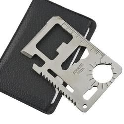 Self Defense Supplies Multi Tools 11 in 1 Multifunction Outdoor Survival Camping Pocket Military Credit Card Knife Silver