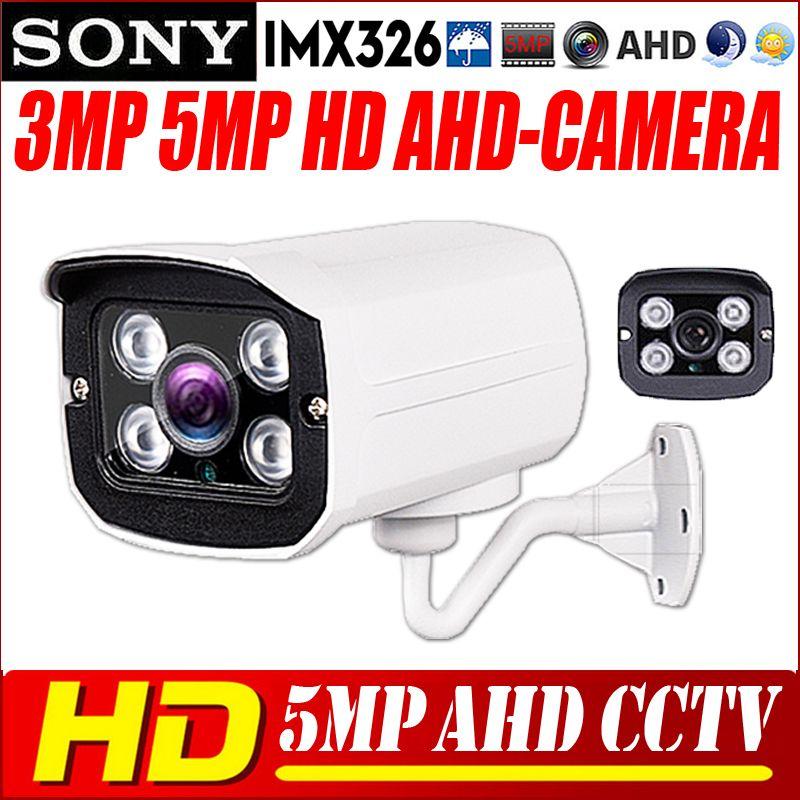 CCTV AHD Camera 5MP IMX326 5MP 1080P CCTV Security AHDM AHDH Camera HD MELAL 4PCS ARRAY LED IR-Cut Night vision ourdoor Camera