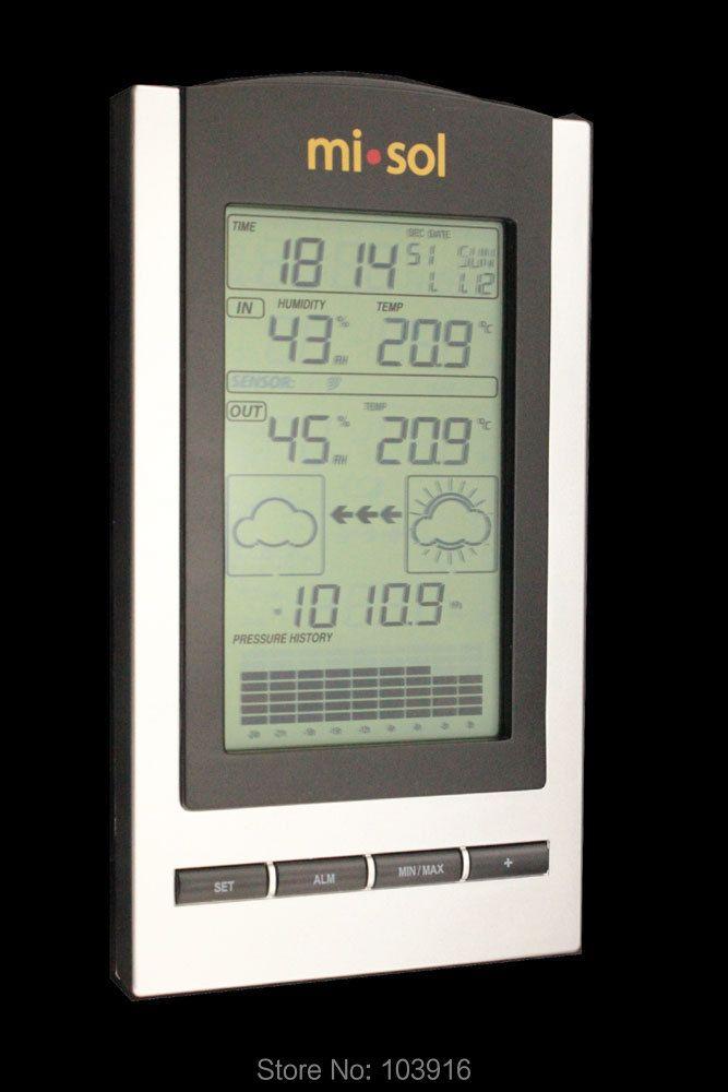 Station météo sans fil, thermomètre sans fil avec capteur de température et d'humidité extérieur écran LCD, baromètre