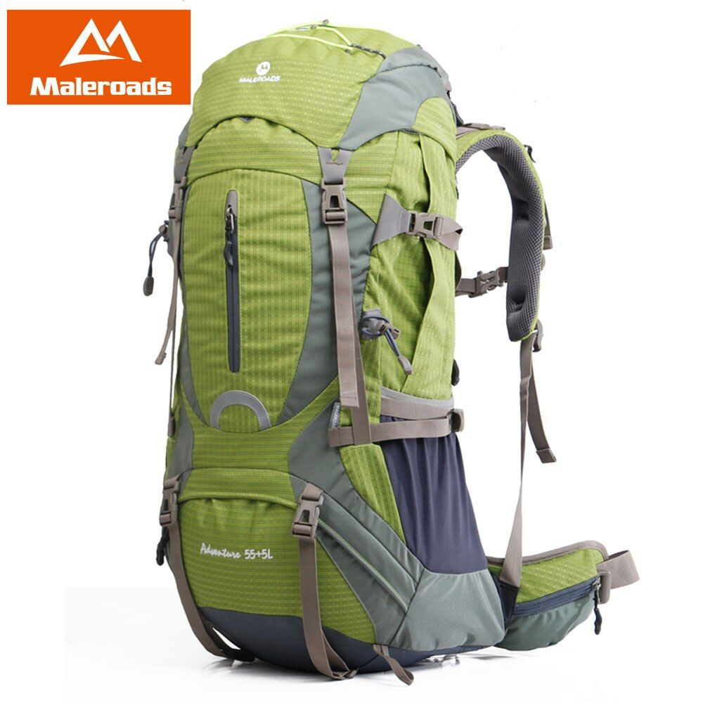 60L Professional Climb Backpack Maleroads Trekking Rucksack Outdoor Travel Camp Equip Hiking Gear Mountaineering Bag for Climber