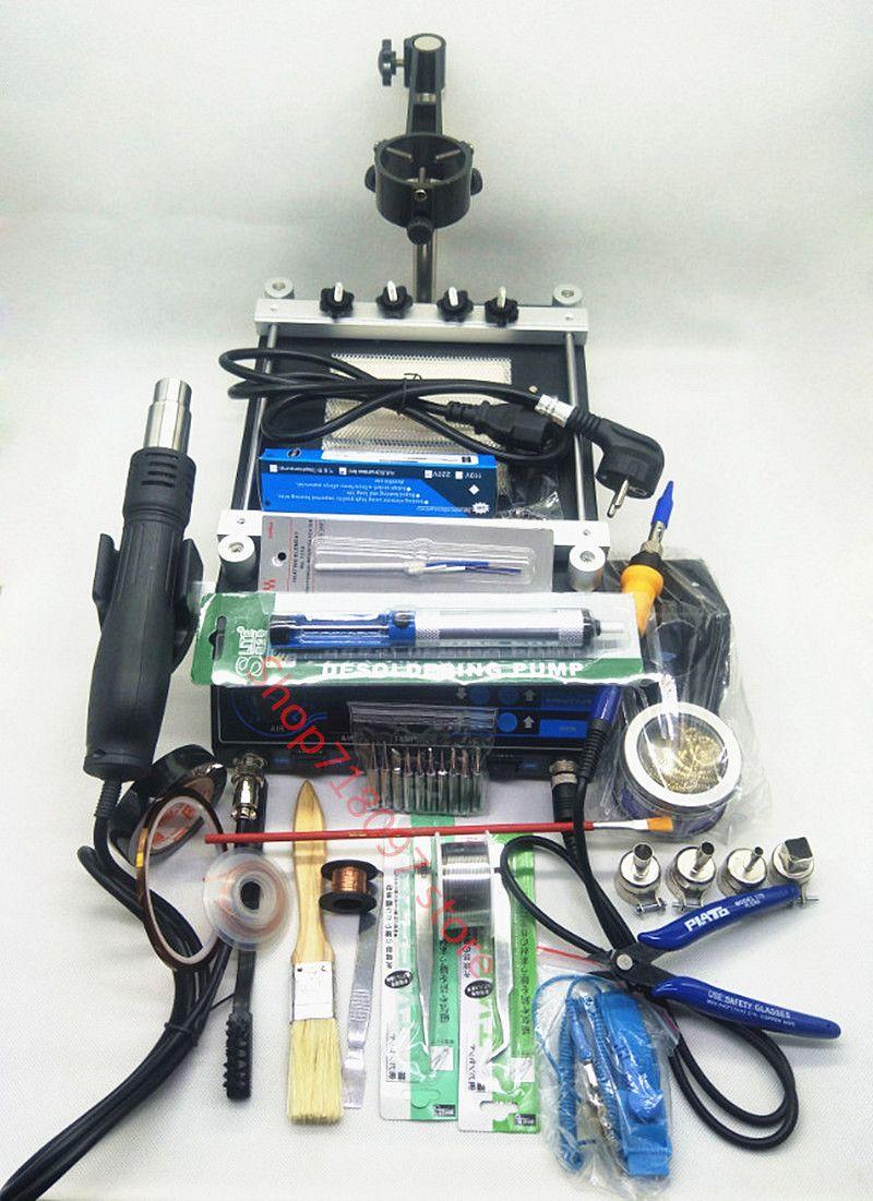 650 Watt YIHUA 853AAA Heißluftpistole Rework Station Importiert Löten eisen Mit Vorheizen BGA Station Handy 3 In 1 Reparatur werkzeug