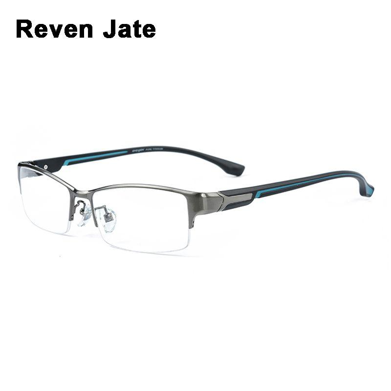 Reven Jate Super Mode Männer Brillen Rahmen Ultraleichte gewichteten Flexible IP Elektronische Plattierungsmetall Material Rim Glasses Mann