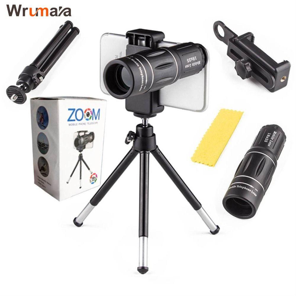 Universel 18X Télescope Zoom Mobile Lentille de Téléphone pour l'iphone Samsung Smartphones universel clip Telefon Camera Lens avec trépied
