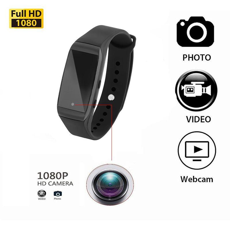 HD 1080P Bracelet Camera Mini Camera Wristband 14.2 Million Pixels Lens Camera Wearable Device Micro Cam pk sq8 sq9 sq11 T189