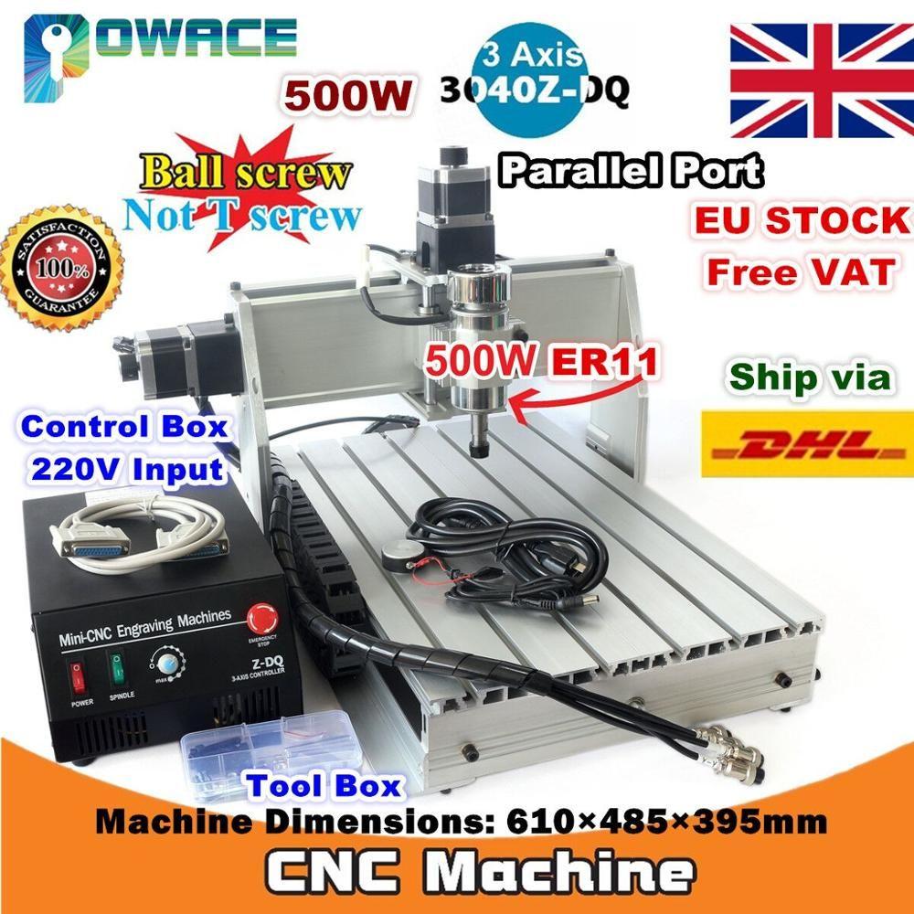 [EU Lieferung/Freies MEHRWERTSTEUER] 3-Achse 500 W 3040Z-DQ Parallel/USB Port Desktop Ball Schraube 3040 CNC Router Gravur Fräsen Maschine 220 V