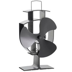 Бесплатная доставка деревянная плита экологический вентилятор-тепло питание ультра тихий тройной лезвие камин вентилятор для эффективног...
