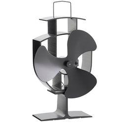 Envío libre estufa de madera eco ventilador accionado calor ultra silencioso hoja triple chimenea Sopladores ventilador eficiente distribución del calor