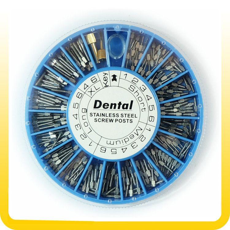 Poste à vis en acier inoxydable dentaire 120 pièces & poste à vis dentaire 2Key fournitures dentaires matériel dentaire livraison gratuite