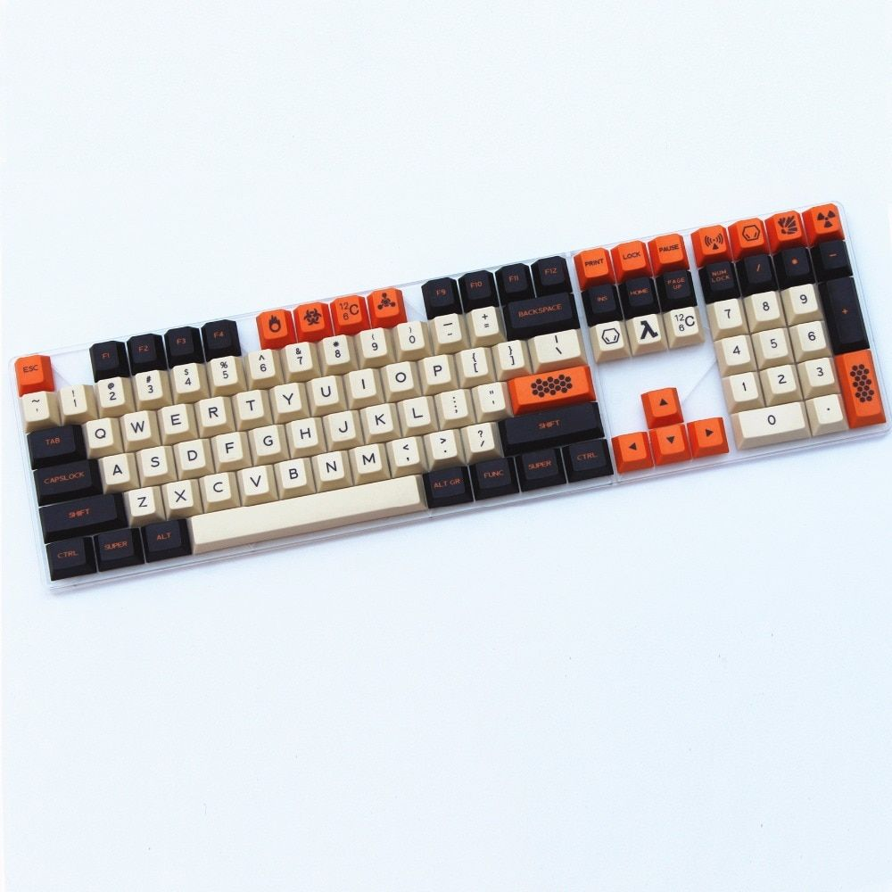 Carbon color New product 169 Key English/Korean Dye-Sublimated thick PBT cherry profile MX switch For Mechanical keyboard keycap