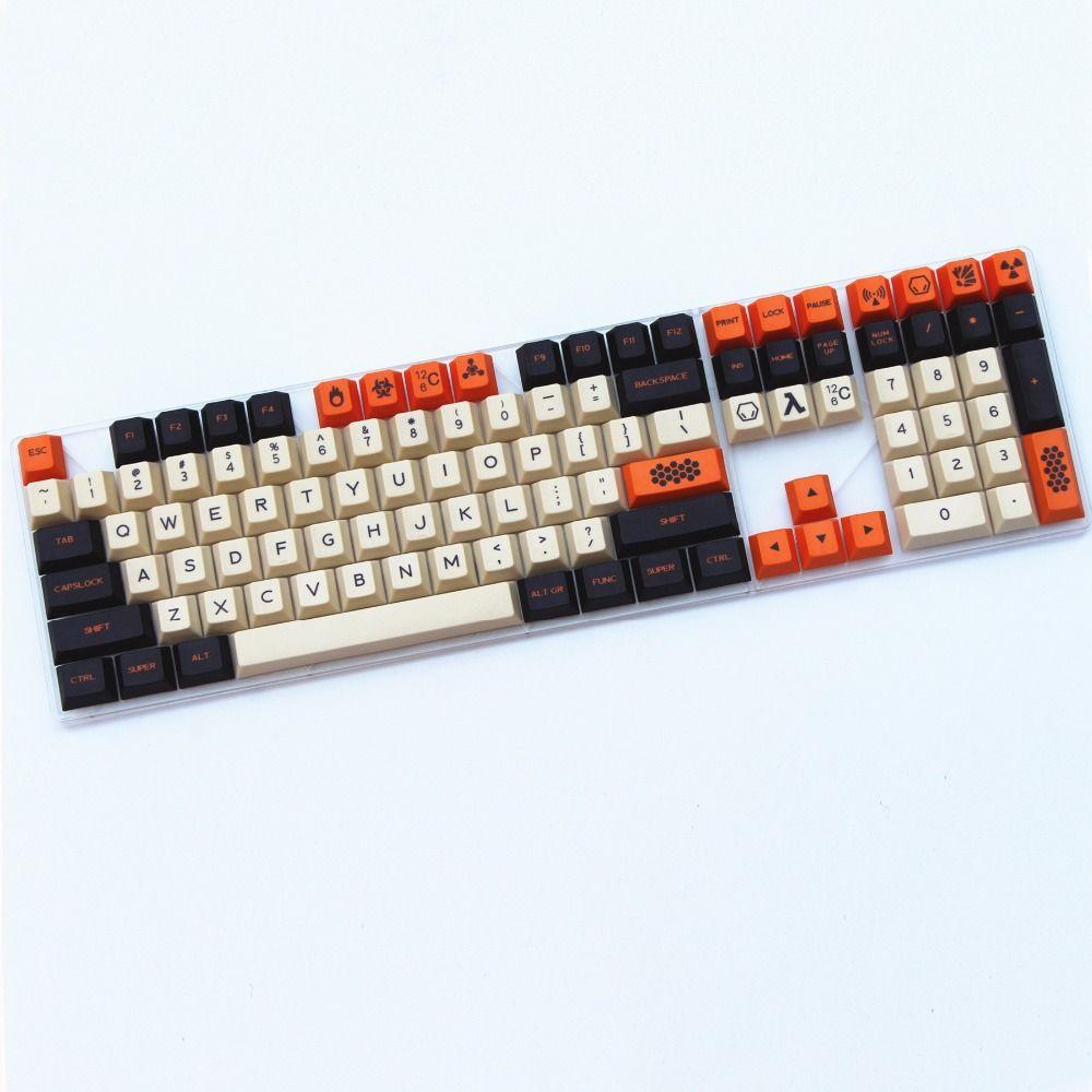 Carbon farbe Neue produkt 169 Schlüssel Englisch/Koreanische Farbstoff-Sublimiert starke PBT kirsche profil MX schalter Für Mechanische tastatur keycap