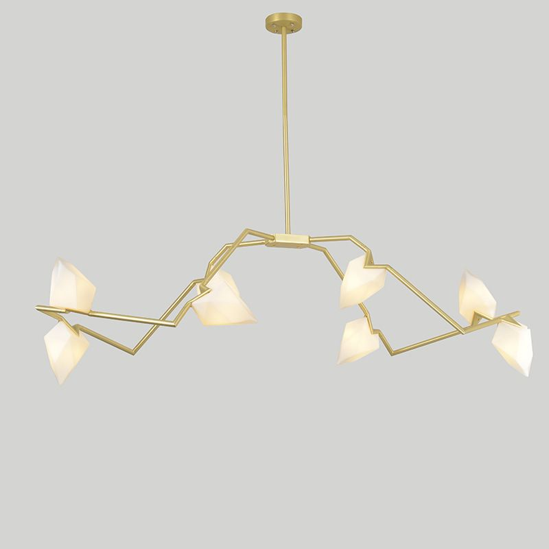 New Personality Designer Chandelier Ceiling Bedroom Living Room Foyer Post Modern Decoration G9 Lighting Peach Hanging Lamp