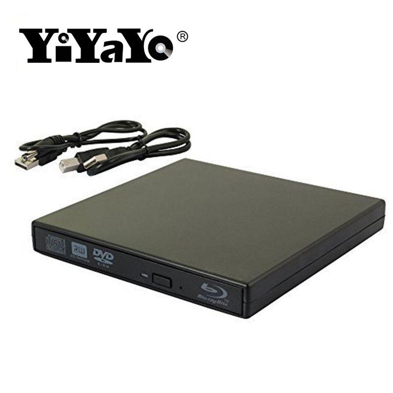 YiYaYo Bluray Player External DVD Drive combo USB 2.0 BD/DVD/CD-ROM Player CD/DVD-RW Burner Recorder Portatil for Windows10 PC
