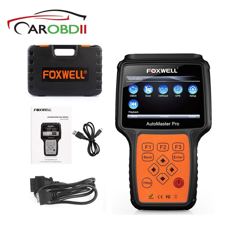 NT614 Foxwell OBD2 Automotive Scanner Engine Transmission ABS Airbag SRS EPB Oil Reset Code Reader obd2 Diagnosic Scan Tool