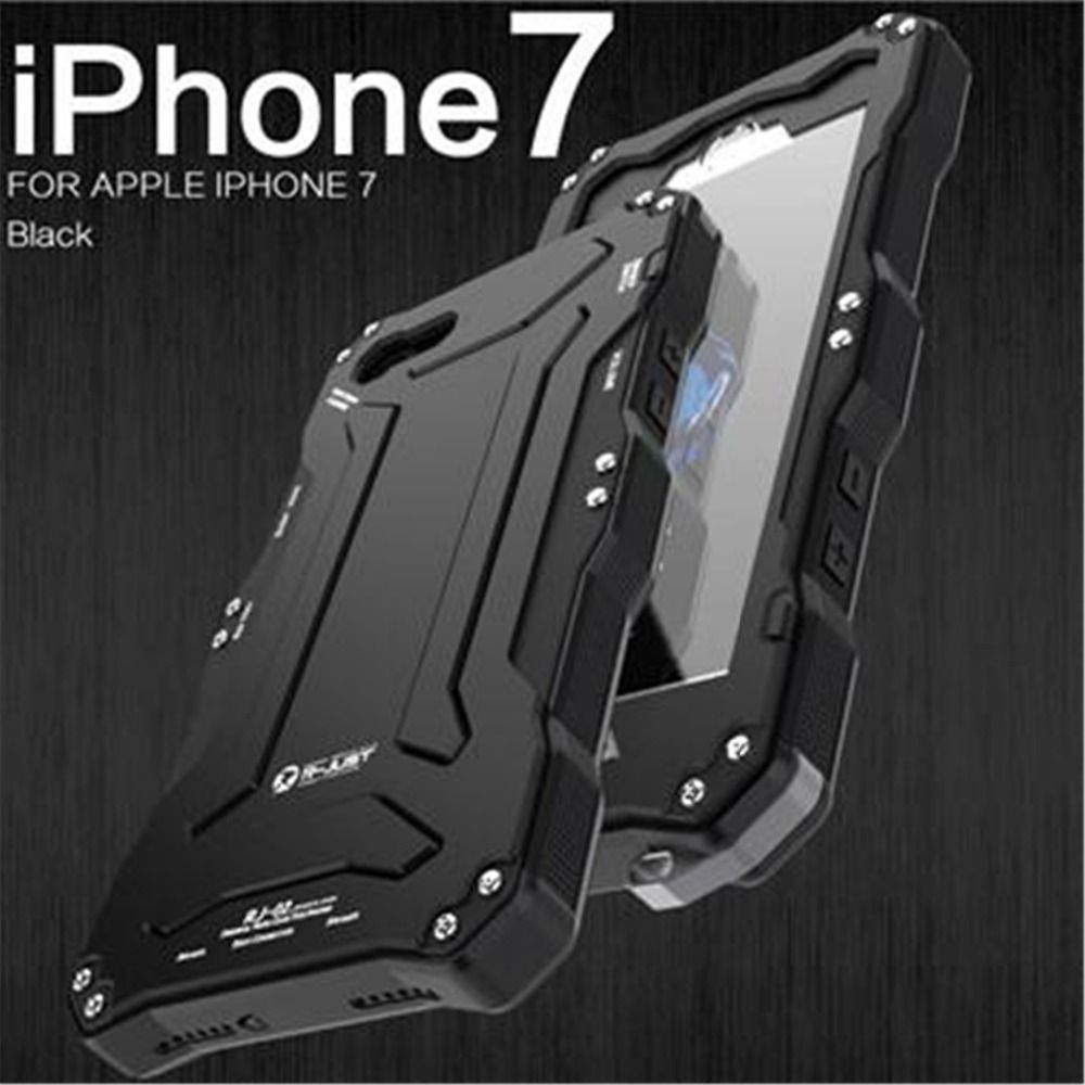 R-JUST for Apple IPhone 7 Case Aluminum Case Three Defenses Phone Cases Hard Bumper Back Covers for IPhone7 4.7inch