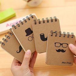 2018 Organizador Créativité Bloc-Notes Portable Avec Tabac Pipe & Moustache Portable Journal Pour Cadeau Étudiant Fournitures Scolaires