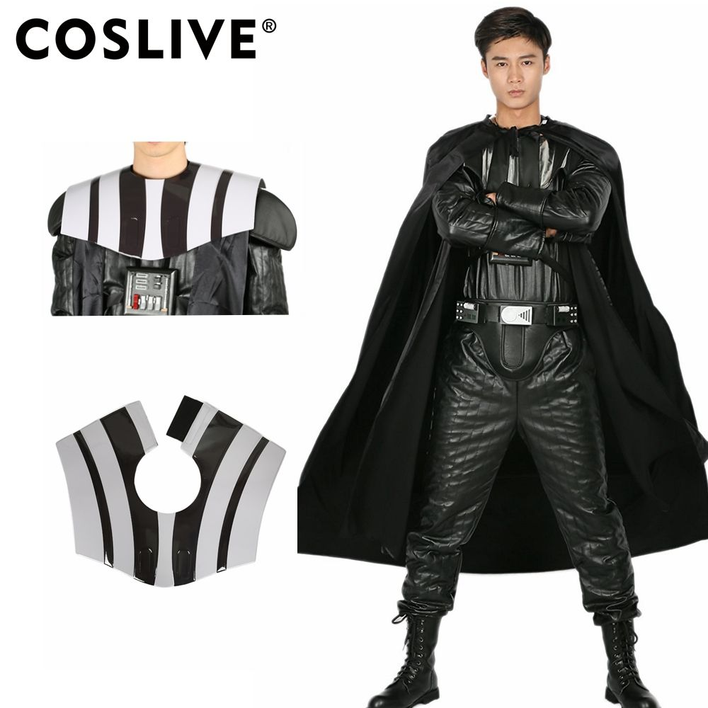 Coslive Star Wars Darth Vader Costume All Black One-piece Garment PU Leather Costume for Halloween Cosplay Party Show