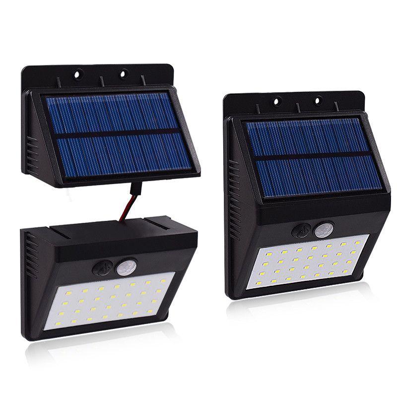 28 LED Separable Solar Panel Solar power LED light PIR Motion Sensorr Garden Lamps 3 Modes Separable To Install Wall Lamp 1PCS