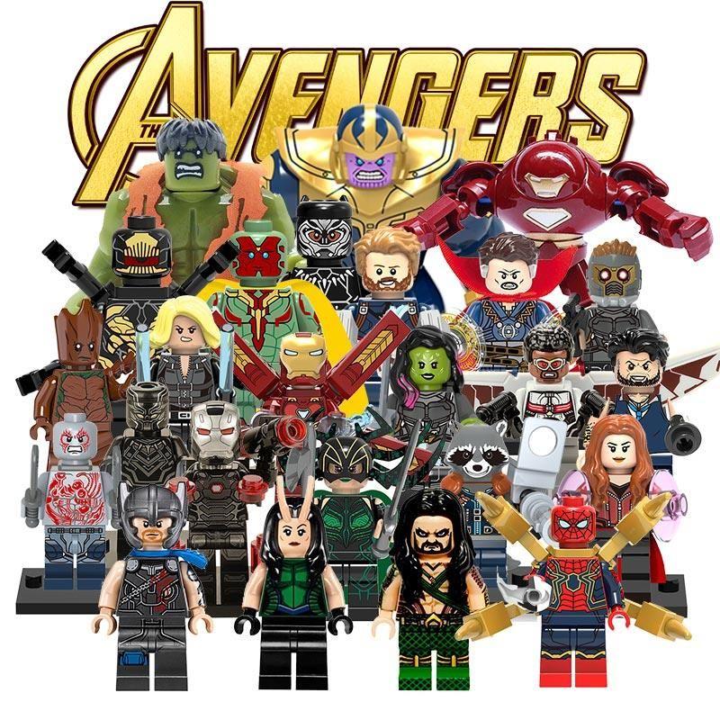 Avengers 3 Infinity Guerre LegoINGlys Marvel DC Super Hero Thanos Blocs de Construction Compatible avec LegoINGly Batmam Jouet pour Enfants