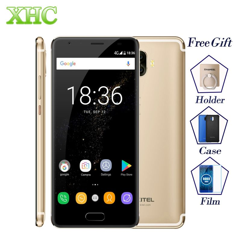 OUKITEL K8000 4 GB 64 GB Mobile Téléphones 5.5 ''Android 7.0 8000 mAh D'empreintes Digitales 13MP 8MP Octa Core Dual SIM OTG OTA LTE 4G Téléphones Portables