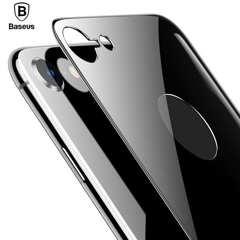 Baseus 4D Back Tempered Glass Film For iPhone 8 Ultra Thin Full Screen Coverage Back Glass Screen Protector For iPhone 8 Plus