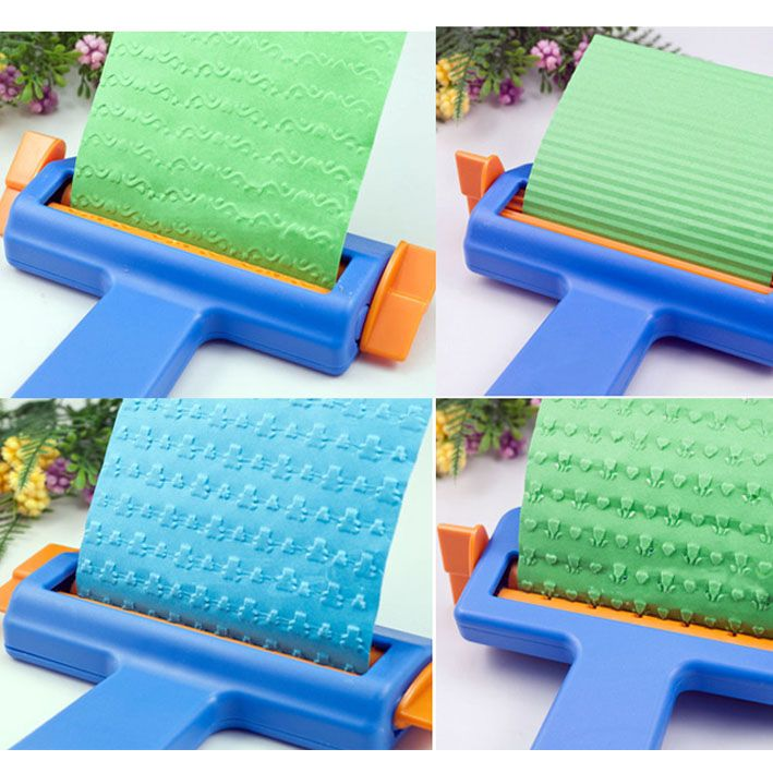 Craft Paper Embosser For Paper, Creative DIY Tools Embossing Scrapbook , Corrugated Paper Making Tools