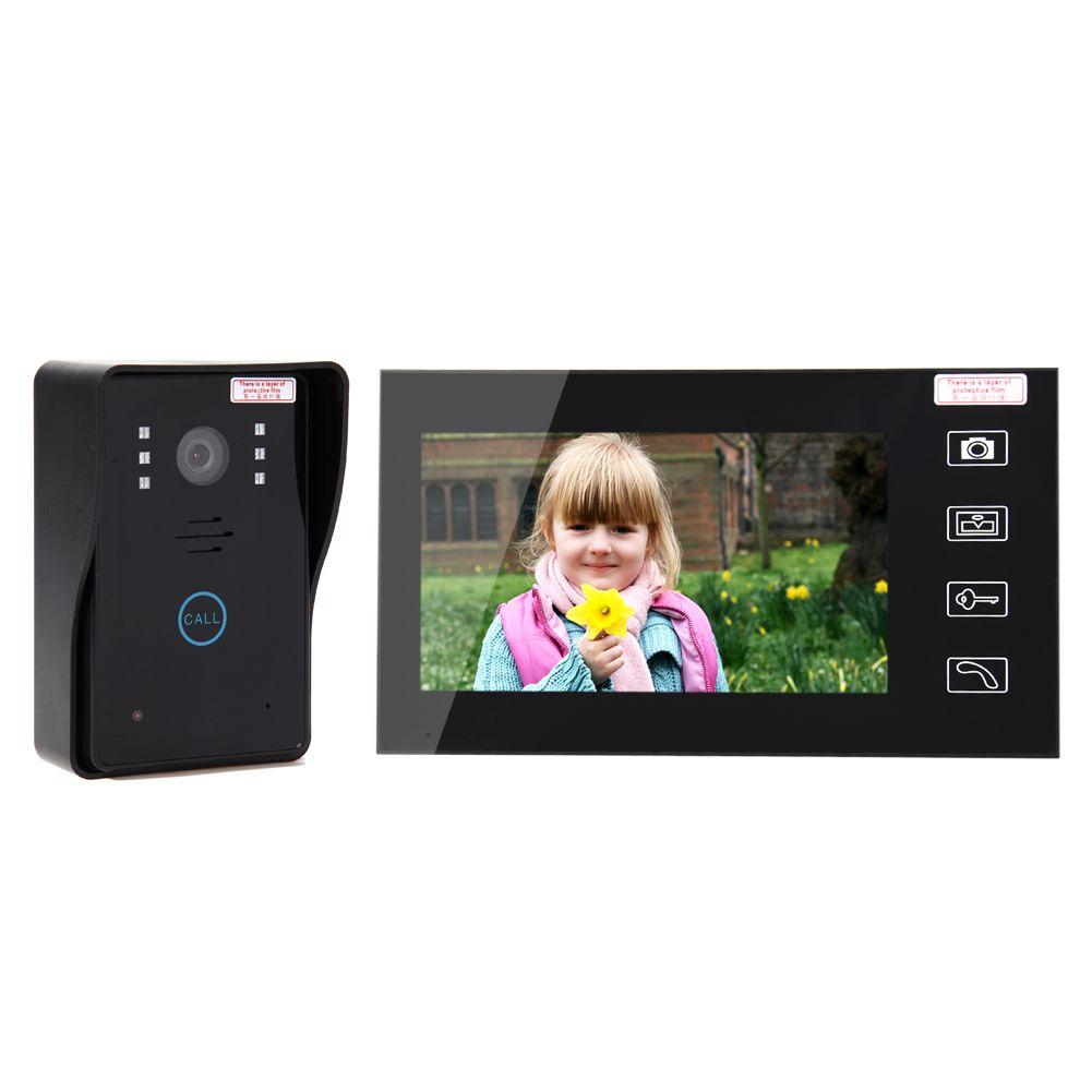 Home Security LCD 2.4G Wireless Video Door Phone Intercom Doorbell Camera with 7