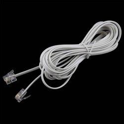 1PCS High Speed 10FT 3M RJ11 6P4C Telephone Phone ADSL Modem Line Cord Cable 4 Pin #22514