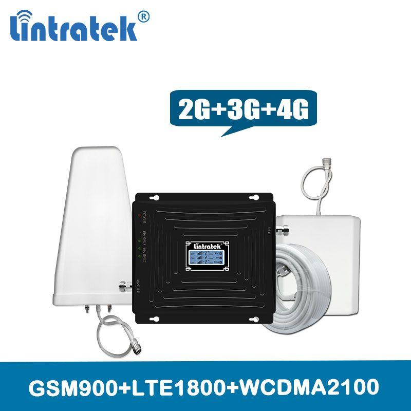 Lintratek 2g 3g 4g Mobile Signal Verstärker 900 1800 2100 GSM DCS WCDMA LTE Signal Booster Tri band Handy Cellular Repeater