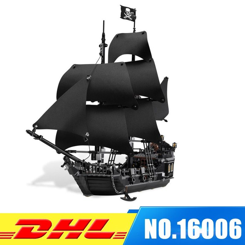 DHL LEPIN 16006 Pirates Caribbean Ship The Black Pearl Building Blocks Set 4184 Lovely Educational Boy Toy For Children Game