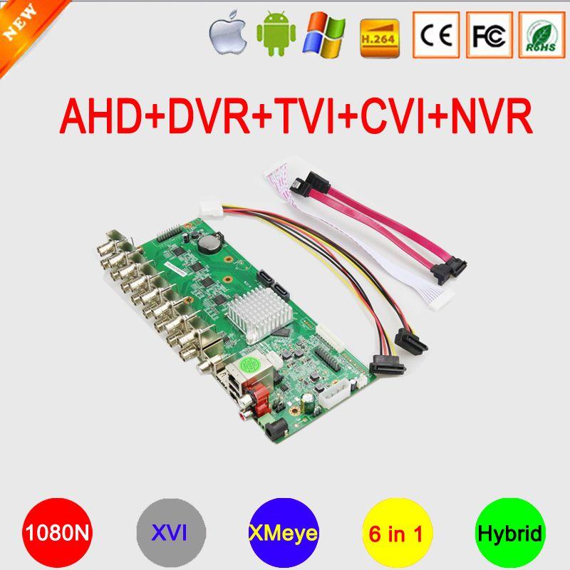 1080N H.265 16CH/8CH/4CH XMeye APP Coaxial 6 en 1 hybride Coaxial AHD TVI CVI DVR NVR carte mère livraison gratuite