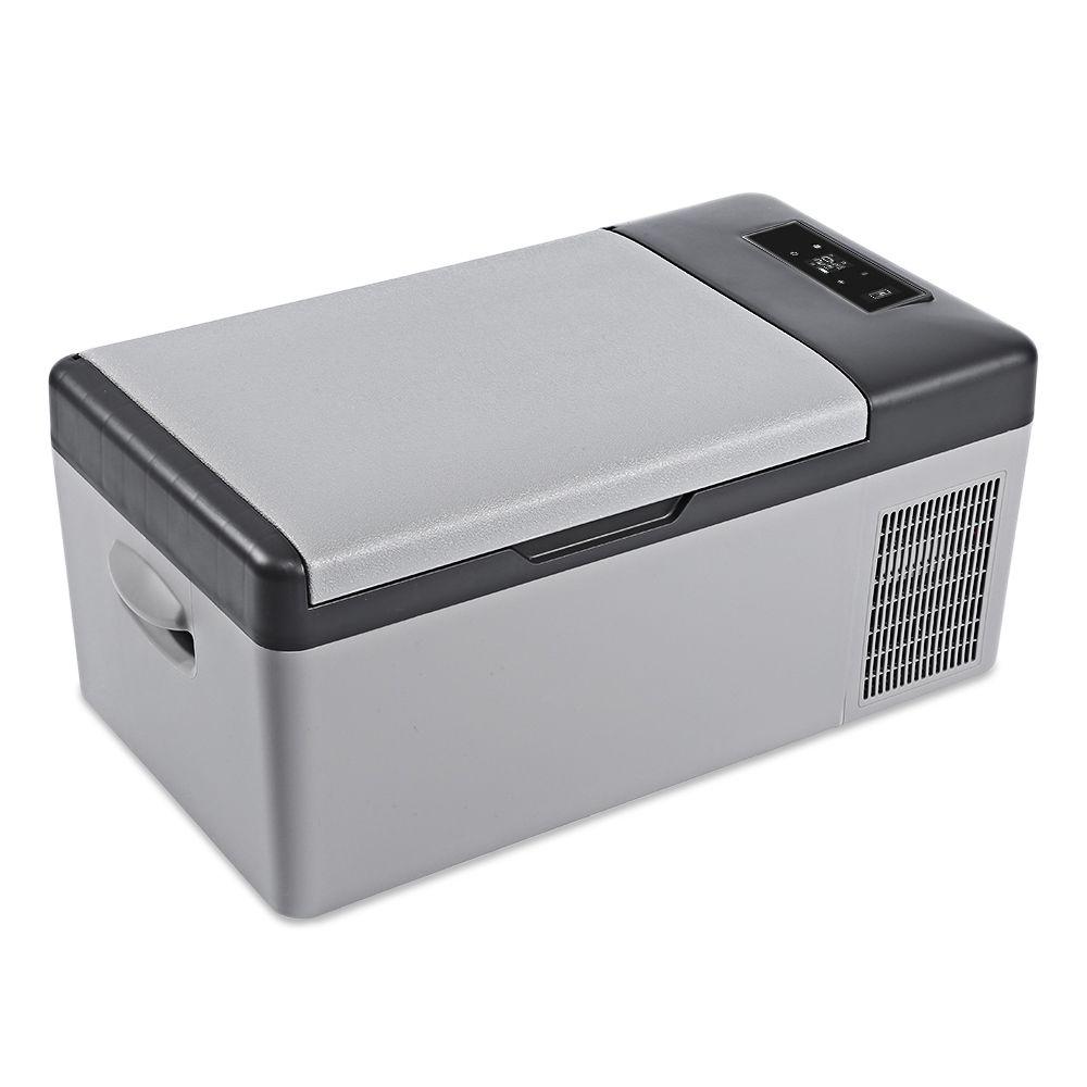 DC 24V 12V Car Refrigerator Freezer Cooler 15L Car fridge AC 110 - 240V for Car Home Picnic Quick Refrigeration to -20 Deg.C