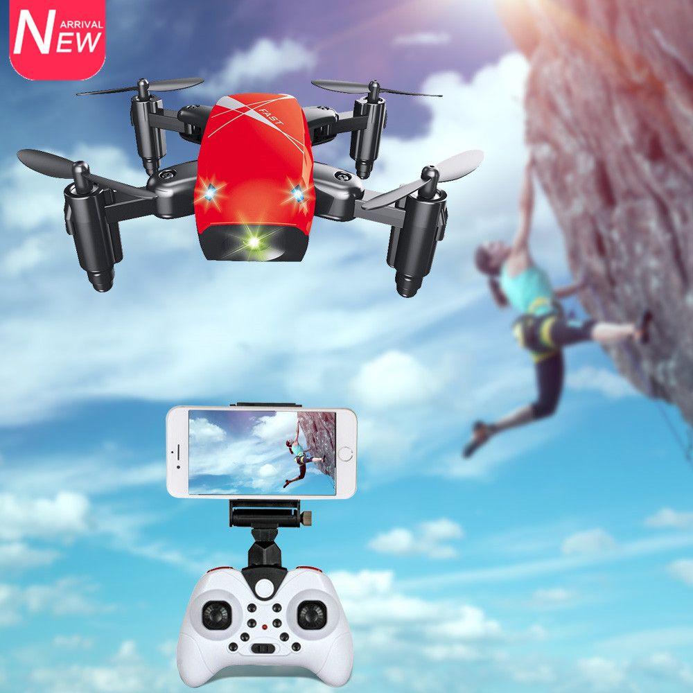 AEOFUN S9HW Mini Drone avec Caméra HD S9 Quadricoptère sans caméra pliable RC Maintien d'altitude Drone de poche micro FPV WiFi pour hélicoptère
