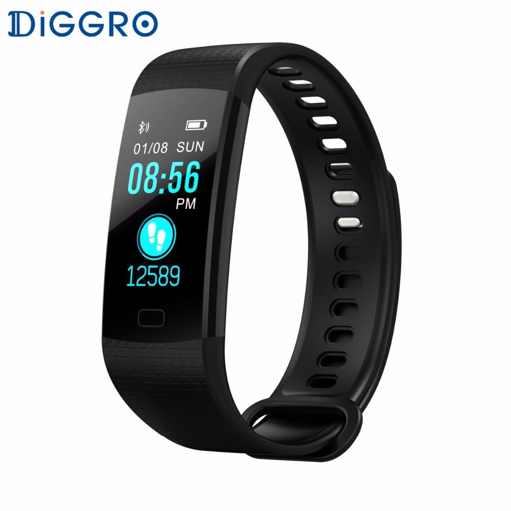 Diggro DB07 Smart Bracelet <font><b>Heart</b></font> Rate Monitor Blood Oxygen Monitor IP67 Fitness Tracker for Andriod IOS