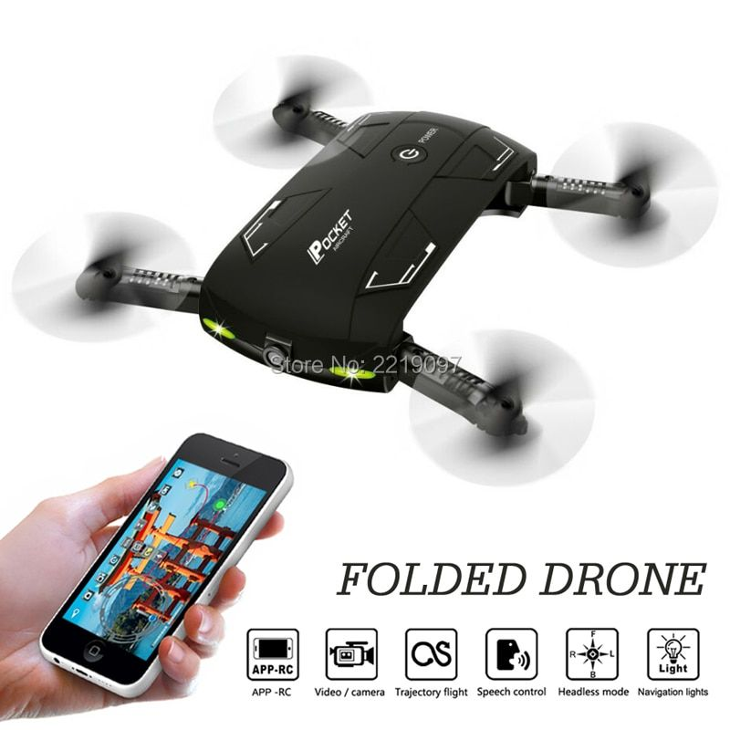 X20 ELFIE Pocket Drone With Camera WIFI FPV Foldable Quadcopter Headless Altitude Hold Mini Selfie RC Helicopter VS D5 E50 Drone