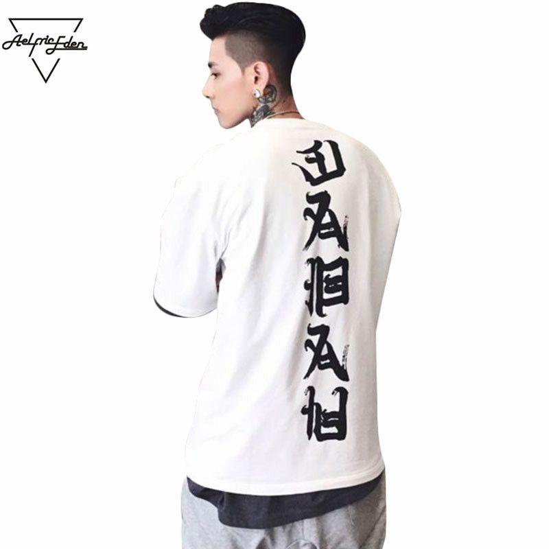 Aelfric Eden 3XL Oversized T Shirts Men Tops Joint Evil T-shirt Streetwear Vogue Loose <font><b>Couple</b></font> Tee Shirt Casual Hip Hop Tshirt