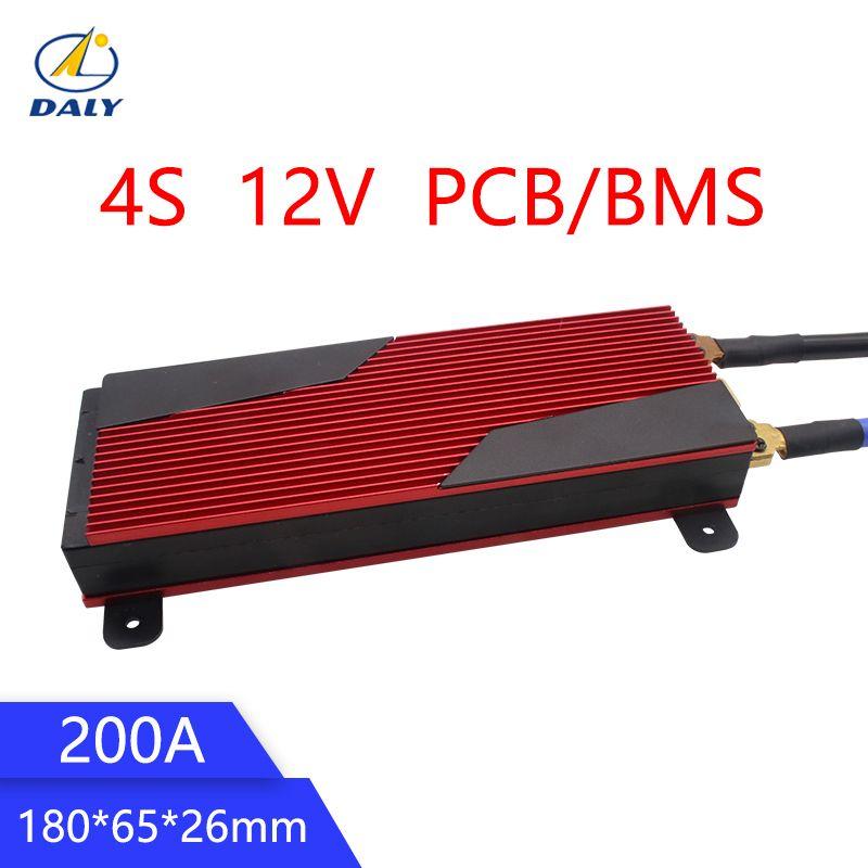 Daly 12V LiFePO4 BMS 4S 200A 14,8 V 18650 Batterie BMS Packs PCB Schutz Bord Balance Integrierte Schaltungen
