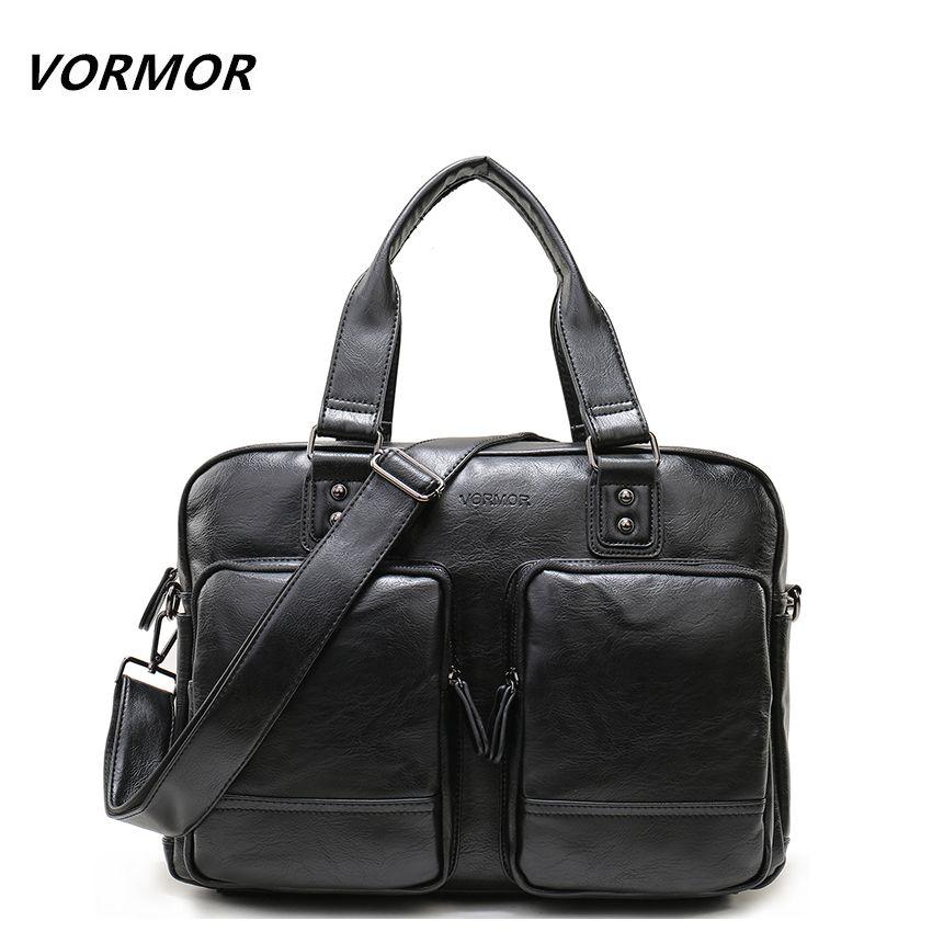 VORMOR Hohe Qualität Multifunktionale Fashion Handtaschen Geschäfts Tote PU Leder Aktentasche Taschen Große Kapazität Männer Reisetaschen