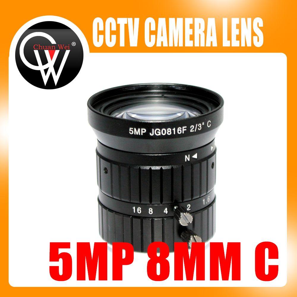 5MP 8mm C monture 2/3