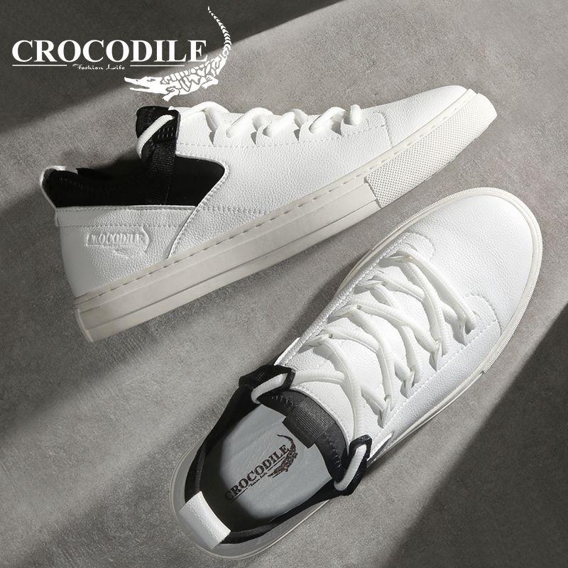 Krokodil Original Männer Flache Sneaker Aus Echtem Leder Schuhe Männlichen Jogging Sport Schuhe für Männer athletische Skateboard Schuhe