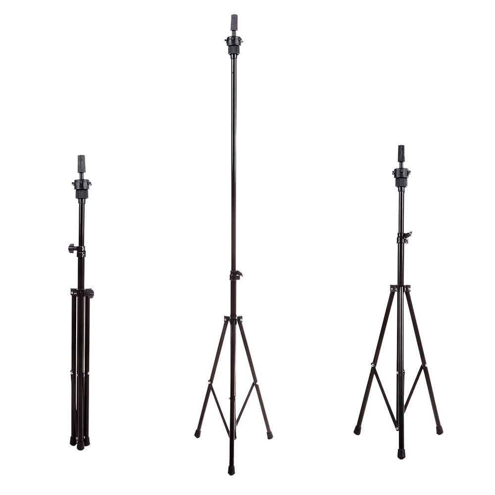 Top Deals Adjustable Professional Portable Wig Head Stand Tripod Holder Mannequin Tripod for Hairdressing Training w Carry Bag