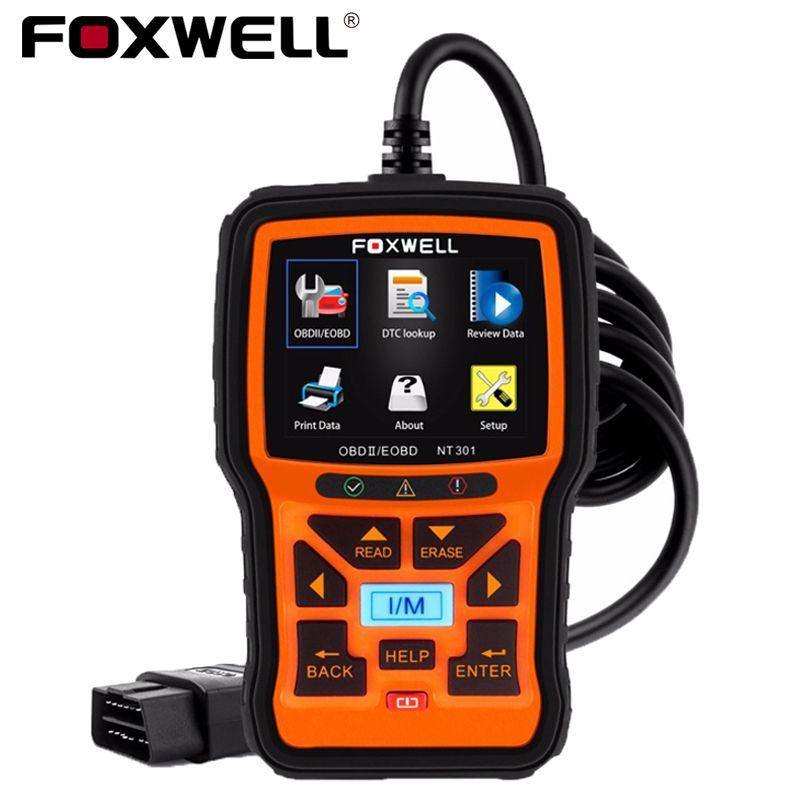 FOXWELL NT301 Universal Car OBD2 Engine Scanner Live Data Codes Auto OBD 2 OBDII EOBD Error Reader Scan Tool Automotive Scaner