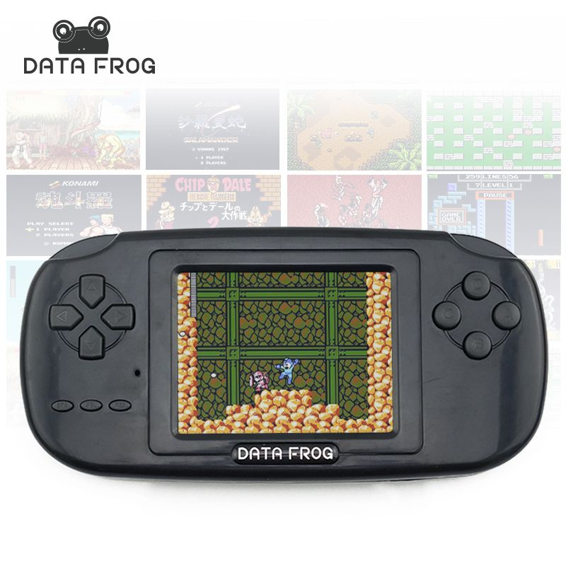 Data Frog Handheld Game Players with 168 <font><b>Built</b></font> in Games 3 inch Screen Game Console 8bit Portable Game Consoles