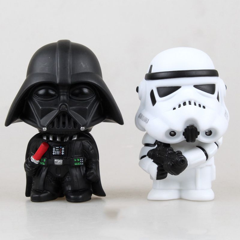 20pcs/lot 10cm Star Wars Figure Action The Force Awakens Darth Vader Stormtrooper Model Toy Kid's Gift Free Shipping