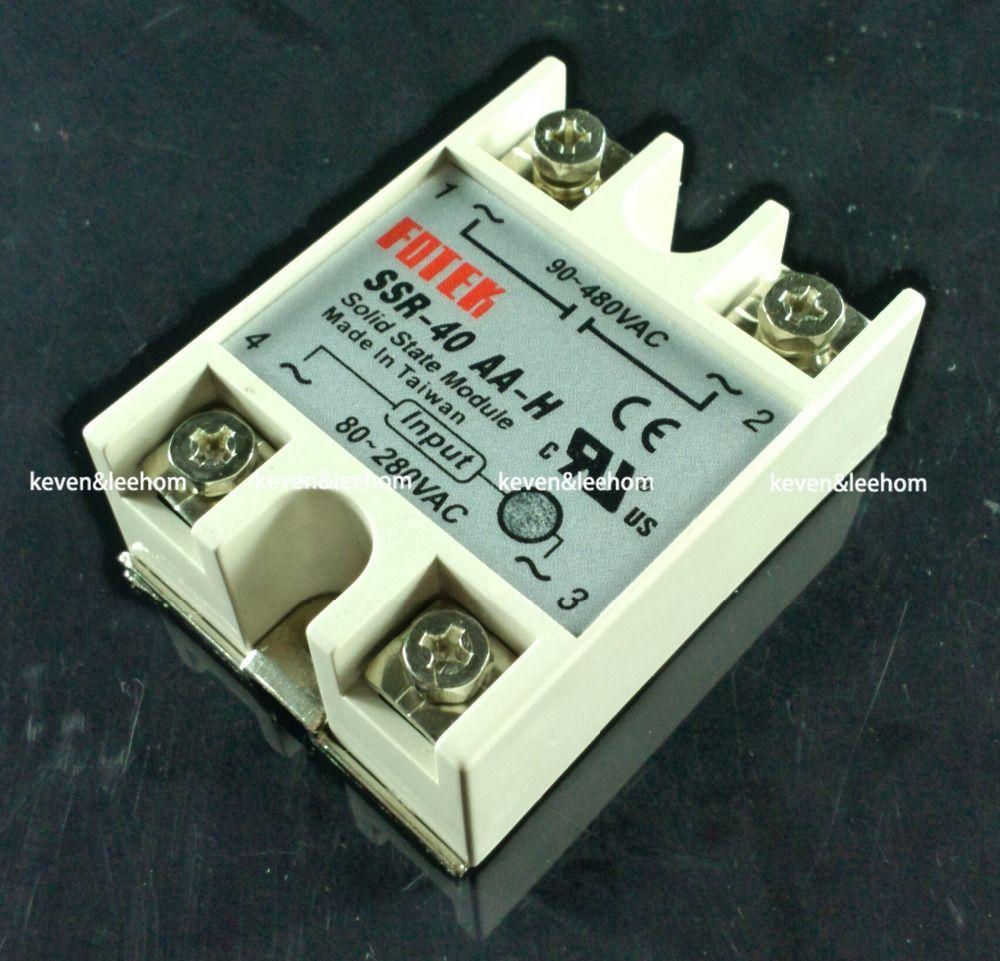 Solid state relais SSR-40AA-H 40A tatsächlich 80-250 v AC ZU 90-480 v AC SSR 40AA H relais