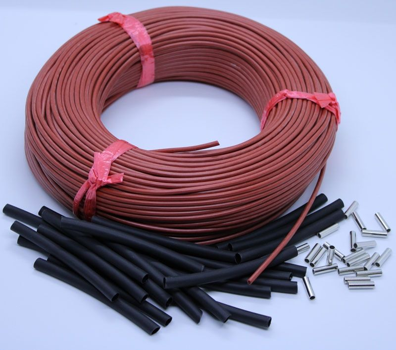 New Infrared Heating Cable 12K Carbon Warm Floor Cable Carbon Fiber Heating Wire Electric Hotline for warm floor/greenhouse