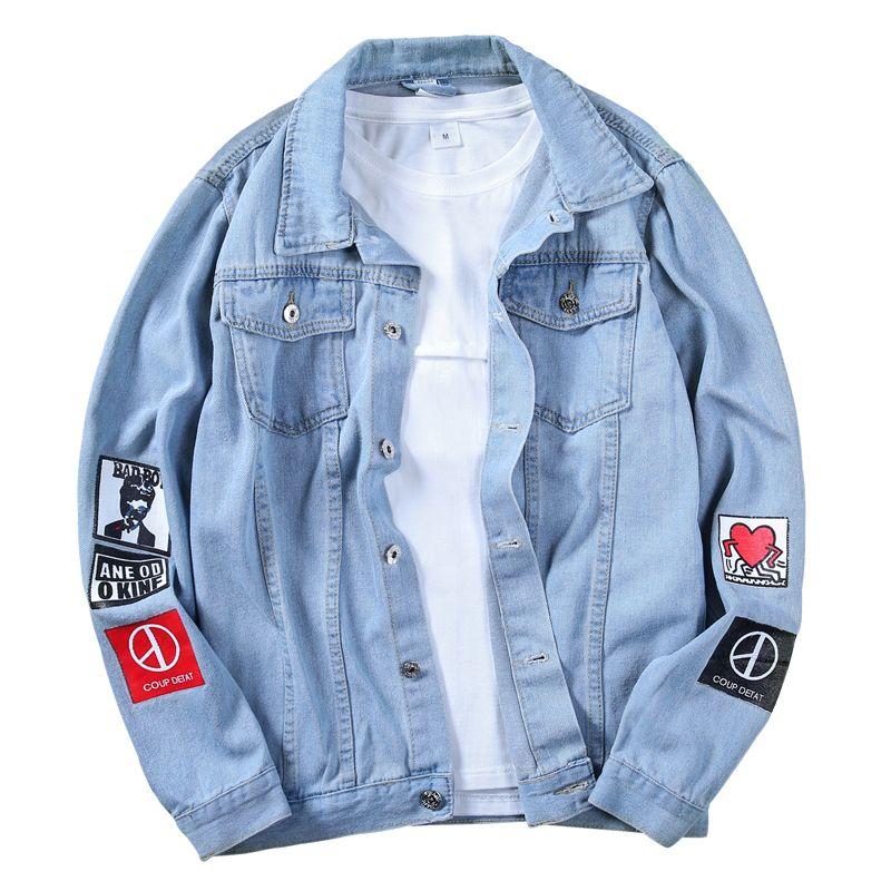 2019 nouveau Top qualité Denim vestes hommes Cowboy Slim Fit Bomber veste jean pour hommes veste Hip Hop imprimer manteaux 5XL Chaqueta Hombre