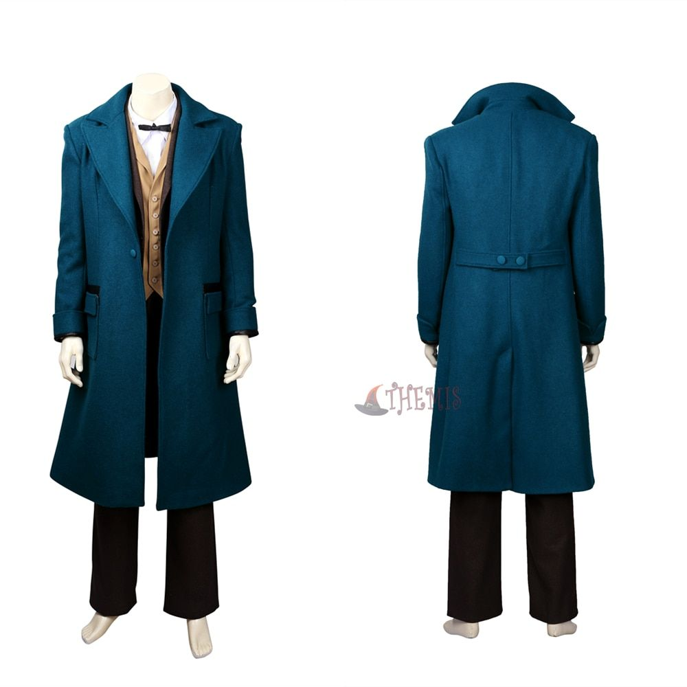 Athemis Anime Fantastic Beasts and Where to Find Them Newt Scamander Cosplay Costumes high quality custom made