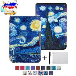 Шелковый печать Обложка книги чехол для Pocketbook basic touch lux 2 614/626/624 pocketbook 626 плюс читалка
