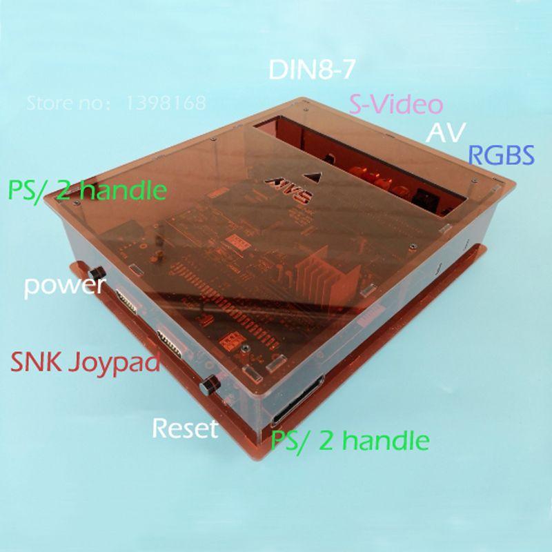NEUE JAMMA CBOX MVS SNK NEOGEO AES MVS-1C zu DB 15 p Für PS1/2 Controller SNK Joypad AV RGBs Ausgang NEOGEO 161 in 1 Patrone